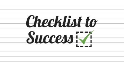 Checklist to success.