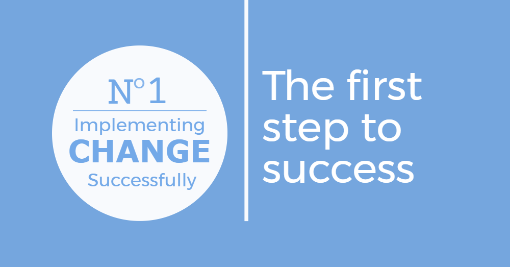 The first step to implementing change.