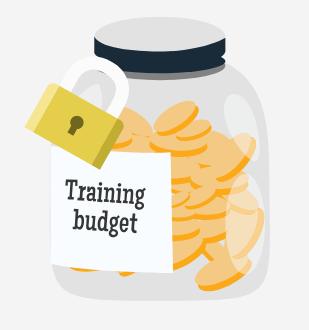 Training budget, money