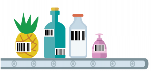Bar-codes on products.