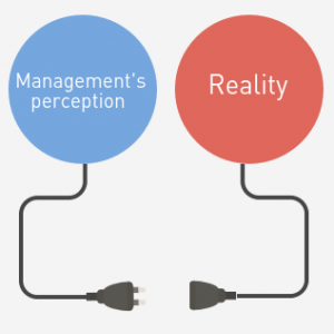 Management disconnected from reality.