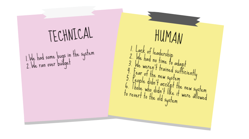 The technical and the human side of change.