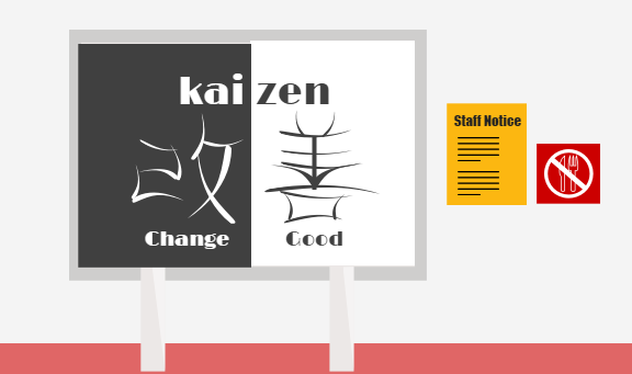 Kaizen notice.