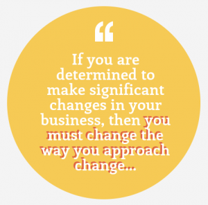 Senior management and change quote.