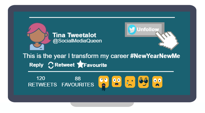New year new me tweet.