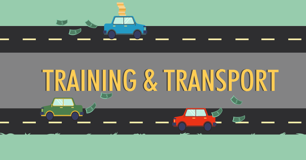 The cost of transport in training.