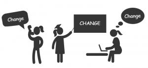 Communicate change.