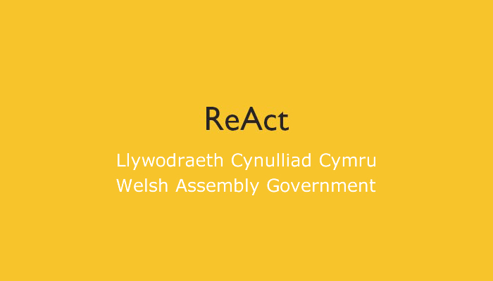 ReAct Funding Careers Wales