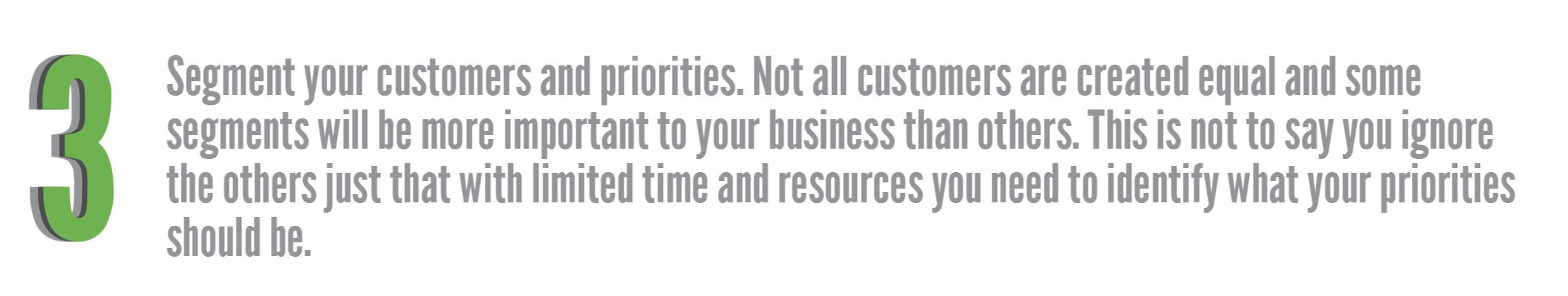 Voice of the customer action three