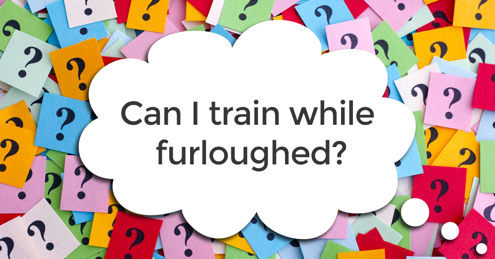 Can I train while furloughed?