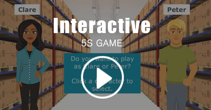 Interactive Lean 5S Game