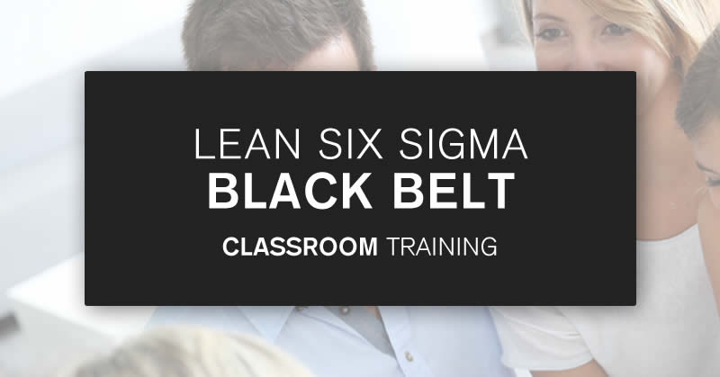 Classroom Black Belt training courses